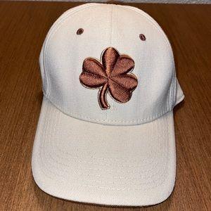 Notre Dame Cap Hat  Irish Tan with Brown Shamrock